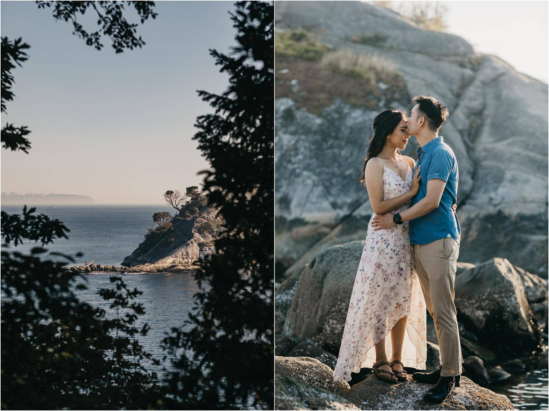Photograph of the famous islet at whytecliff park - Top 5 Locations for your engagement shoot in vancouver