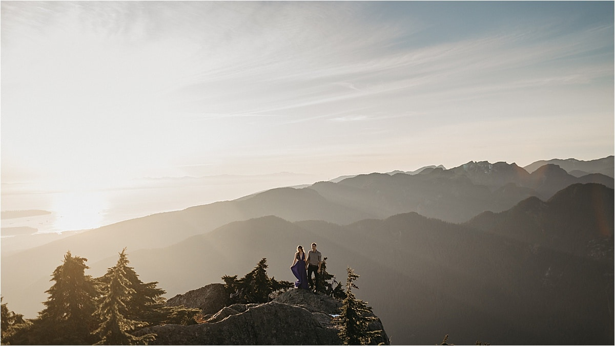 Hiking Mount Seymour for Mid-Autumn Engagement Photos